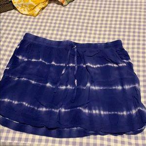 Merona tie dye skirt with pockets